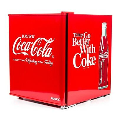 Husky Coca cola, 50 Litre Capacity Mini Fridge, HUS-EL196, Food and Dairy Safe