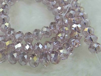 5X8MM 70pcs Multicolor Crystal Faceted Loose Beads AB+AAA