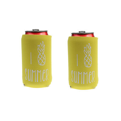2pcs /Pack Neoprene Cooling Beer Can Cooler Bottle Tin Sleeve Holder Party