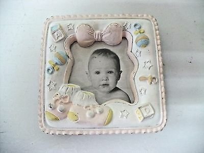 Pink New Born Picture Frame