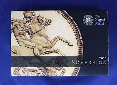 2011 Gold Full Sovereign coin in Presentation Box   (A6/12)