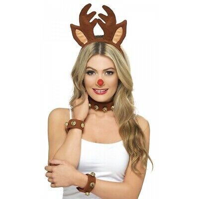 Pin Up Reindeer Kit Costume Accessory Kit Adult Christmas