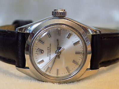 GENUINE ROLEX OYSTER PERPETUAL SWISS LADIES SELF WIND  WATCH #6718 CIRCA 70s