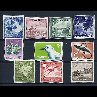 NAURU 1966 Short Set to 25c. SG 66-75. Mint Never Hinged. (AR230)