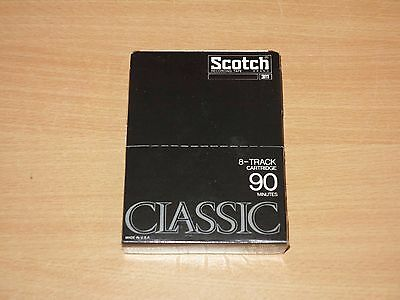 Scotch Classic 8-Track Cartridge Tape 8-Spur Leer Kassette 90 Min Ovp Sealed