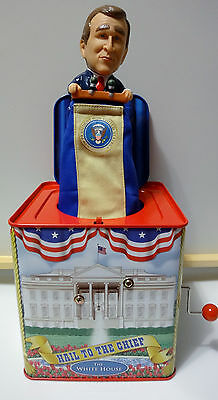 HAIL TO THE CHIEF PRESIDENTIAL JACK-IN-THE-BOX COLLECTION GEORGE W. BUSH w/ box
