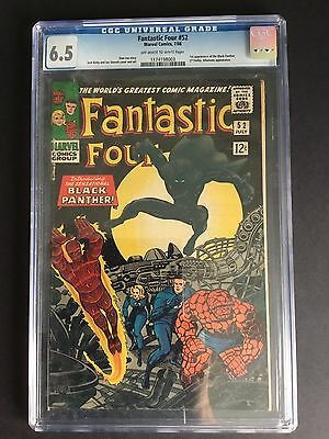 Fantastic Four #52 (1966) CGC 6.5 MARVEL COMICS Black Panther 1st appearance