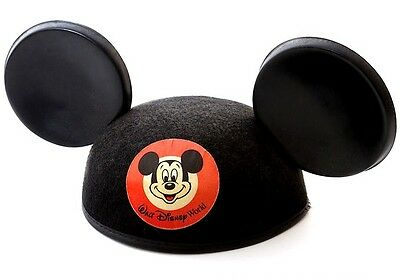 "MICKEY/MINNIE MOUSE CLASSIC EARS HATS 22"" SIZE w/embr -DISNEY WORLD"