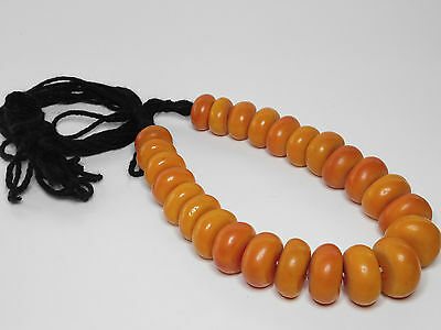 African Berber Resin Beads Ethnic Necklace From Morocco