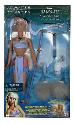 Disney Crystal Princess KIDA doll ATLANTIS Mattel 2000 light-up figure RARE