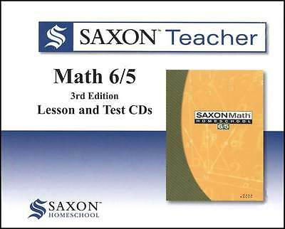 Saxon Math 6/5 Teacher CD-Roms Set Video Supplement to Homeschool Curriculum 65