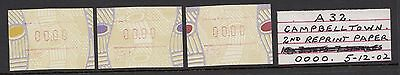 1999 Tiwi Frama Variety: 00.00 value.Postcode: A32 MNH/MUH x 3 different stages.