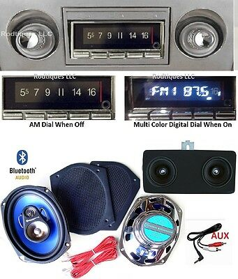 1966-67 Chevy II Nova Bluetooth AM/FM Stereo Radio + Dash Speaker + 6x9's AC 740