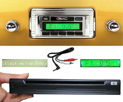 1947-1953 GMC Truck Radio + Single Disc CD Changer + USB + AUX Stereo 630