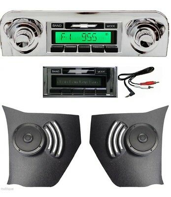 1959-1960 Chevy Impala 300w Radio Pioneer Kick Panel Speakers iPod & USB 630 II