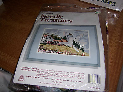 """New Red Farm Studio Color Stamped Needlepoint Kit Keeper Of The Light 16 X 13"""""""