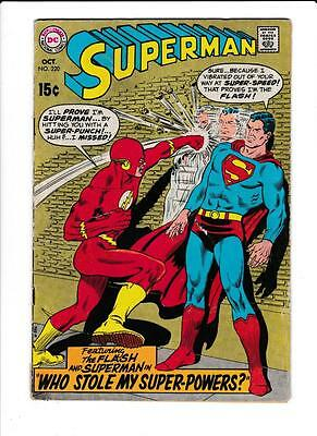 DC Comic:1969 Superman #220 The Flash Appearance 15 Cent Silver Age (L-012)