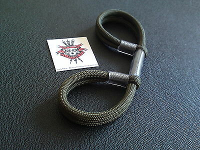 Tox Surgeon Archery Finger Sling  Bow Sling Olive Double Loop