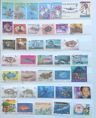 Cocos (Keeling) Islands Fine Used Stamps (100 Stamps)