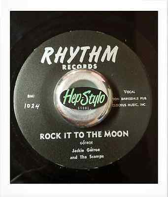 Jackie Gotroe 45 Re -Raised On Rock And Roll -Rhythm California Rare Rockabilly