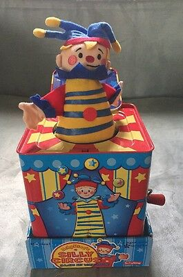 Nib Schylling  Silly Circus Clown Jack In The Box Toddler Musical Toy