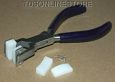 Bracelet Bending-Forming Pliers With Nylon Jaws And Extra Set Of Jaws