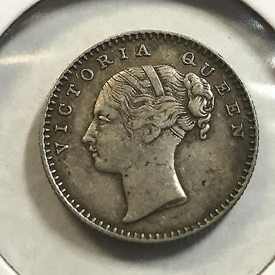 1840 India Great Britain 1/4 Rupee Silver Better Grade Coin