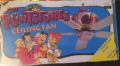 COLLECTIBLE RARE FLINTSTONES MOVIE 1996 CEILING FAN FRED WILMA DINO New Open Box