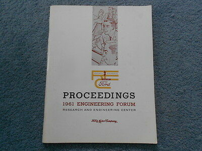Vintage 1961 Ford Research & Engineering Center Forum Proceedings Papers Oem