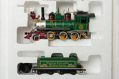 Thomas Kinkade's Christmas Express Train - nine-piece set *NEW* No power supply.