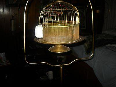 vintage antique hendryx bird cage with stand