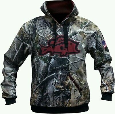Camo Burgandy Bass Maniacs Fishing Hoodie Tournament Jersey Upf50
