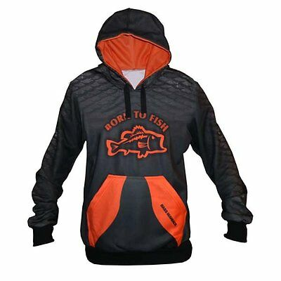 Orange Bass Maniacs Fishing Hoodie Fish Scales Tournament Jersey Upf50