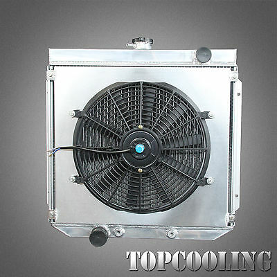 Aluminum Radiator + Fan Shroud For Ford Falcon XW XY 351 V8 Cleveland AT 3 Row