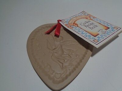 Brown Bag Cookie Art Hill Design 1992 Cookie Mold Heart with Angel Recipe Book
