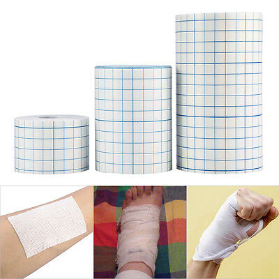 1Roll Waterproof Adhesive Wound Dressing Medical Fixation Tape Bandage 3Sizes AF