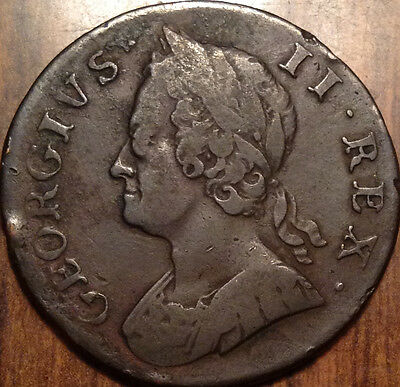 1749 Uk Gb Great Britain Half Penny A Beautiful Example