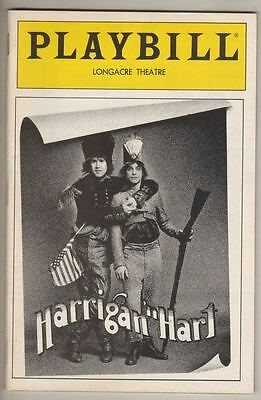 "Playbill ""Harrigan'n Hart"" 1985 FLOP Mark Hamill, Christine Ebersole PREVIEW"