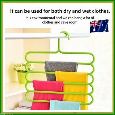5 layers Racks Multifunctional Scarf Hanger Rack Skid For Trousers Hanger O