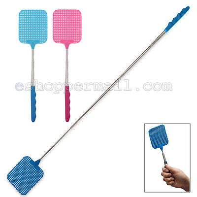 EXTENDABLE FLY SWATTER Plastic Bug Mosquito Insect Killer Telescopic HEAVY DUTY