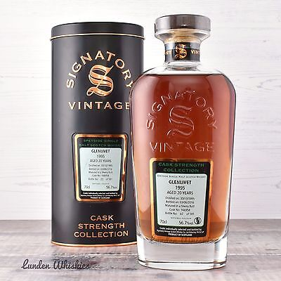 1995 Signatory Vintage Glenlivet 20YO Cask Strength Single Malt Scotch Whisky