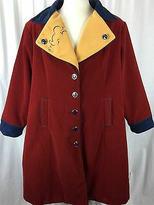 Disney Mickey Mouse Disneyland Employee Coat Cast Member Uniform Costume 3XL XL