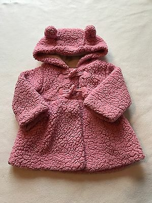 Baby Girls Clothes 3-6 Months - Cute Girl Pink Fleecy Jacket