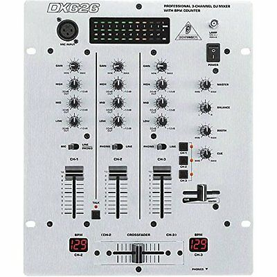 Behringer DX626 mixer professionale 3 canali Phono/Line/Mic + Contatore Bpm