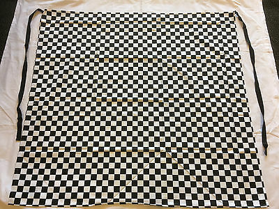 Set Of 3 Brand New Black & White Check, Half/waist Aprons