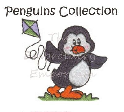 Penguins Collection - Machine Embroidery Designs On Cd