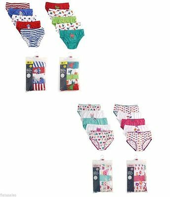 5 Pack Of Kids Boys Girls Brief 100%Cotton Underwear 2-8 Years