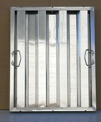 "1 pc Stainless Steel Hood Filter, 20""H x 16""W, Commercial Range Grease Baffle"