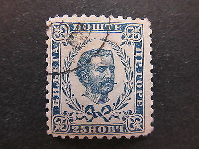 A4P47 Montenegro 1894-98 25n Perf 10 1/2 used #49