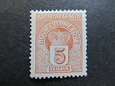 A4P48 Montenegro Postage Due Stamp 1907 5pa mh* #102